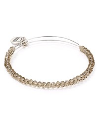 Alex And Ani Crescent Moon Brilliance Expandable Wire Bangle Light Pink