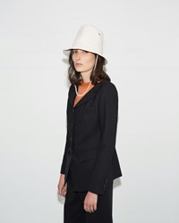 Aalto Tall Leather Hat Off White