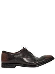 Alberto Fasciani 20Mm Hand Washed Leather Oxford Shoes Black