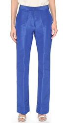 Monique Lhuillier Straight Leg Pants Cobalt