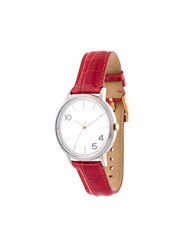 Forty Five Ten X Fossil Stainless Steel Dial Watch Red