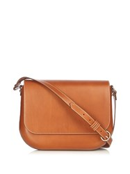 A.P.C. Lea Leather Cross Body Bag Tan