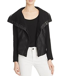 Blank Nyc Blanknyc Faux Leather Knit Sleeve Jacket Missed Connection