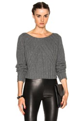 Theperfext Casey Cropped Long Sleeve Sweater In Gray