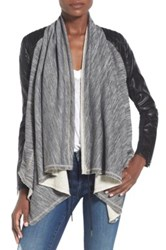 Blanknyc Denim 'Dating And Waiting' Drape Front Jacket Gray