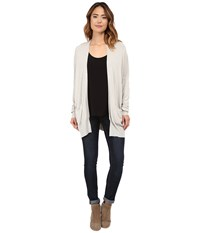 Culture Phit Raylen Two Pocket Cardigan Heather Stone Women's Sweater White