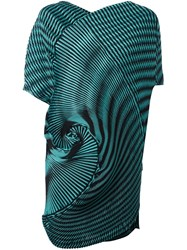 Issey Miyake Pleated Spiral Tank Green
