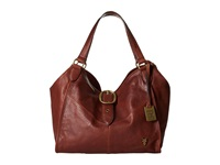 Frye Belle Bohemian Satchel Whiskey Oiled Vintage Full Grain Satchel Handbags Red