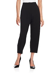 Lafayette 148 New York Pleated Cropped Pants Black