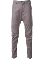 Julius Drop Crotch Motorcycle Trousers Grey