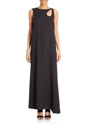 Opening Ceremony Glide Cutout Shoulder Maxi Dress Black