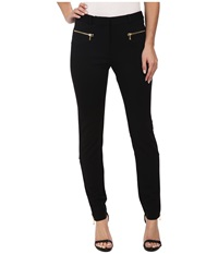 Rachel Zoe Sab Ponte Zipper Pants Black Women's Casual Pants