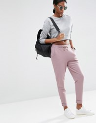 Asos Washed Joggers With Luxe Elastic Waist Berry Multi