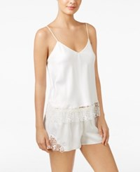 Flora Nikrooz Adeline Charmeuse Cami And Shorts Pajama Set Ivory