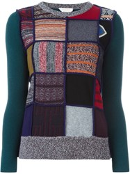See By Chloe Patchwork Jumper