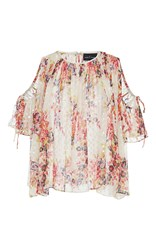 Needle And Thread Prairie Rose Open Shoulder Blouse Floral