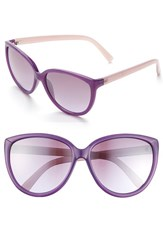 Women's Ivanka Trump 58Mm Cat Eye Sunglasses Purple