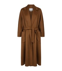 Max Mara Maxmara Labbro Long Cashmere Coat Female Brown