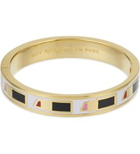 Kate Spade My Lips Are Sealed 12Ct Gold Plated Bangle Pink Multi