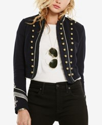 Denim And Supply Ralph Lauren French Terry Military Jacke Heritage Navy