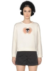 Fendi Fox Fur Monster Jersey Sweatshirt