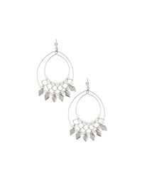 Lydell Nyc Pearly Open Wire Double Drop Earrings White Natu