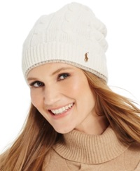 Polo Ralph Lauren Two Tone Cable Slouch Hat