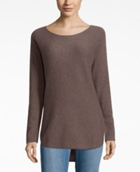 Charter Club Cashmere High Low Sweater Only At Macy's Heather Mocha