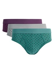 Topman Assorted Colours Polka Dot Briefs 3 Pack Multi