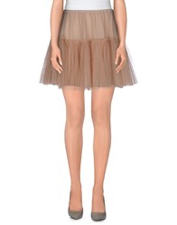 Valentino Skirts Mini Skirts Women Skin Color