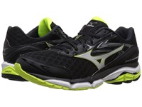 Mizuno Wave Inspire 12 Black Silver Safety Yellow Men's Running Shoes