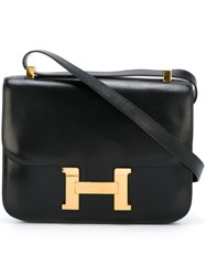 Hermes Herma S Vintage 'Constance' Shoulder Bag Black