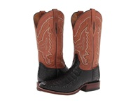 Lucchese M4537 Black Hornback Caiman Cognac Mad Dog Palo Duro Cowboy Boots Tan