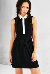 Cooperative Collared Button Front Frock Dress Black