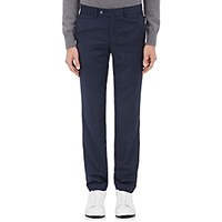 Barneys New York Men's Nailhead Wool Trousers Blue