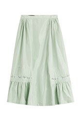 Rochas Midi Skirt With Silk Green