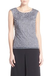Women's Adrianna Papell Embellished Mesh Top