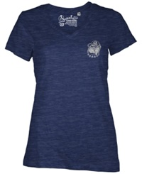Royce Apparel Inc Women's Georgetown Hoyas Logo T Shirt Navy