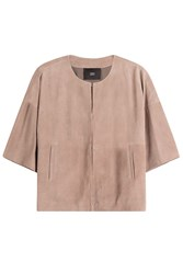 Steffen Schraut Suede Short Sleeve Jacket Brown