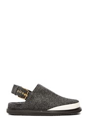 Marni Felted Wool Sandals Grey