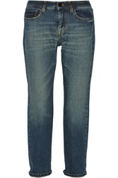 Victoria Beckham Slouch Cropped Mid Rise Boyfriend Jeans