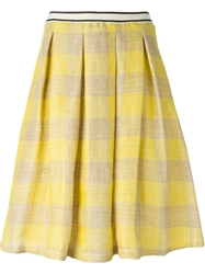 Erika Cavallini Semi Couture Checked Pleated Skirt