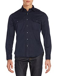 Ralph Lauren Black Label Twill Military Rover Sportshirt Navy