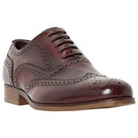 Bertie Rogue Patent Leather Brogues Red