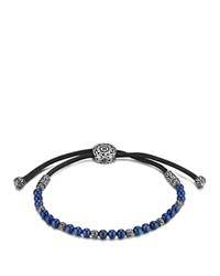 John Hardy Men's Sterling Silver Classic Chain Beaded Bracelet With Lapis Lazuli Blue