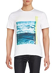 Calvin Klein Jeans The Wave Graphic Tee White