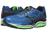 Mizuno Wave Enigma 6 Skydiver Black Green Gecko Men's Running Shoes Blue