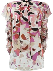 Roberto Cavalli Kaleidoscope Floral Print Blouse Pink And Purple