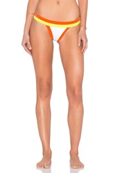 Milly Amalfi Colorblock Bikini Bottom Orange