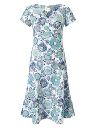 East Kerela Floral Dress Blue